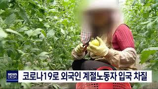 코로나19로 외국인 계절노동자 입국 차질