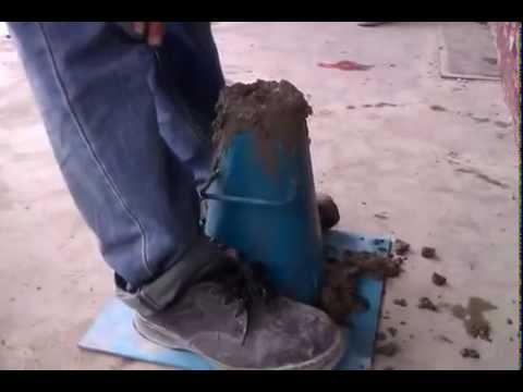 Trial mix concrete