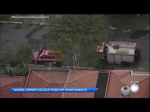 Homem tenta colocar fogo em apartamento em São Paulo