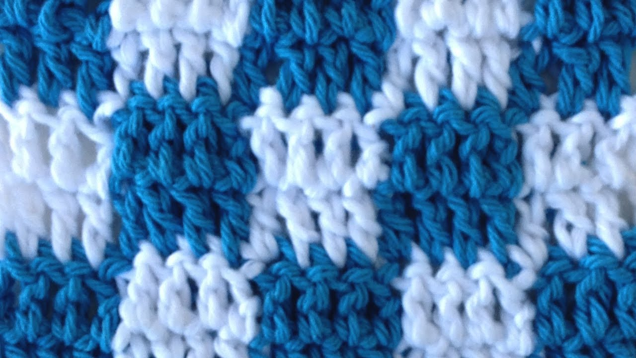 Crocheting With Two Colors : CROCHET STITCHES Checks Changing Colors How to Pattern Maggie Weldon ...