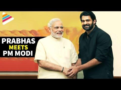 Prabhas Meets Modi   India PM Congrats Baahubali Movie Team   Exclusive Video   Telugu Filmnagar Photo Image Pic