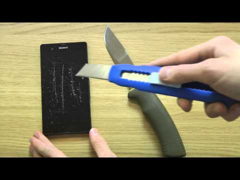 Sony Xperia Z - Knife Screen Scratch Test