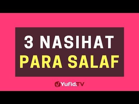 3 Nasihat Para Salaf