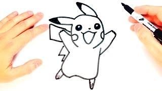 How to draw a Pikachu for Kids | Pikachu Easy Draw Tutorial