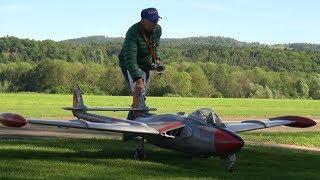 Huge RC Turbine Scale Model Jet DE Havilland VENOM Swiss Edition points-Figure flight