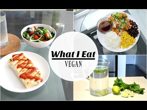 EASY, LOW-FAT VEGAN MEAL IDEAS - What I Eat In A Day! SLIM, HEALTHY & HAPPY :)