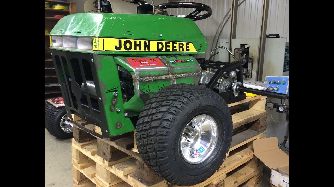 Lawn Mower Racing >> Briggs V-Twin VANGUARD (Custom Exhaust Build), - Part Two! - JD210 Build! - YouTube