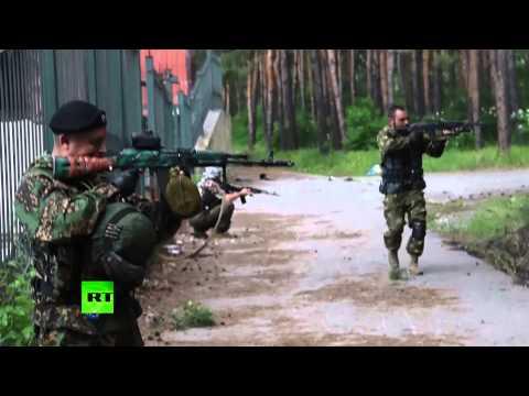 Ukraine slides back into warfare - ceasefire unravels ouside Donetsk