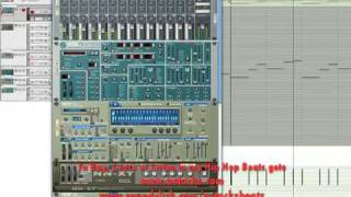 Producing with Reason Tutorial - Tutorial on Reason 4 basic Hip Hop Beat making - part 4 (4 parts) -