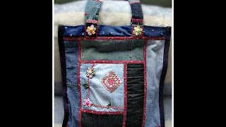 DIY  Fashion bag from jeans  -  cool ideas