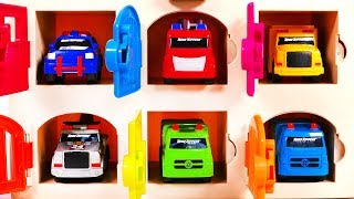 Recycle Truck Tow Truck Garbage Truck and More Toy Car Vehicles Learn Colors with Garage Playset