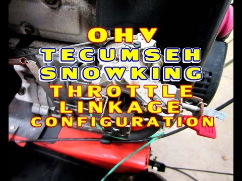 OHV Tecumseh Throttle Linkage Configuration On Snowking Engines