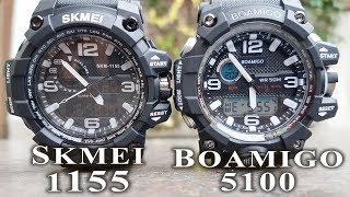 Skmei 1155 vs Boamigo F5100 comparison/review