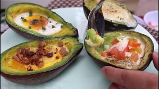 Baked eggs in avocado ll Keto diet recipe ll cherie's table