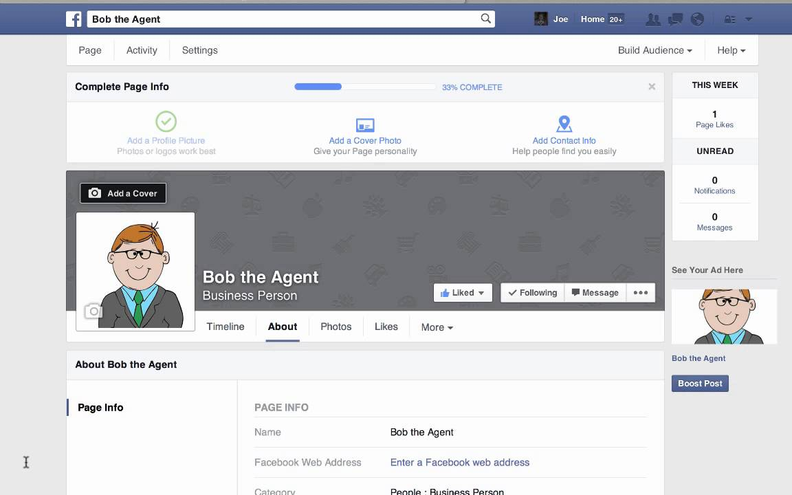 how to create facebook page for real estate agent