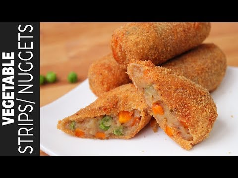 KFC স্টাইল ভেজিটেবল স্ট্রিপ্স  ইফতার রেসিপি  Veg Strips  Vegetable Nuggets Bangladeshi Snacks Recipe