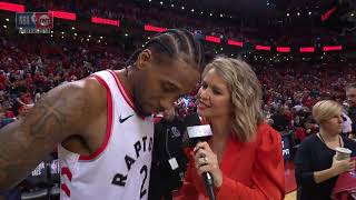 Kawhi Leonard Postgame Interview - Game 3 | Bucks vs Raptors | 2019 NBA Playoffs