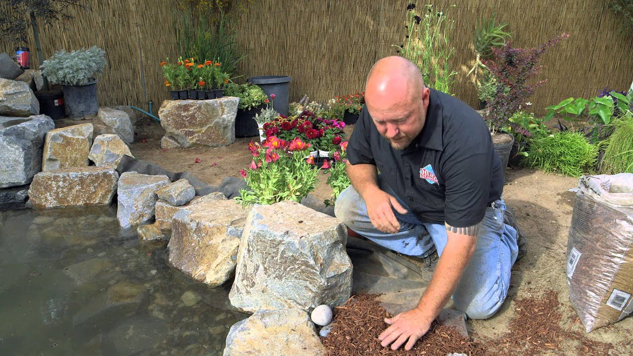 How To Build A Fish Pond Part 20 Pond Edging