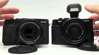 The Fuji X-E1 vs Sony RX-1 AF Speed and Side By Side