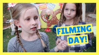 Playing with Oonies + Filming a Toy Carnival Video with Avery