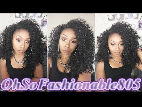 Outre Dominican Curly Review + How to blend natural hair with a half wig