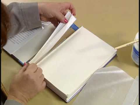 9 Repairing A Broken Hinge On A Library Book Youtube