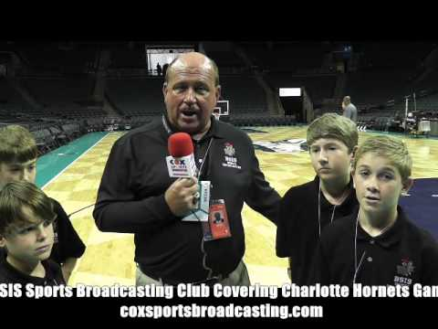 BSIS Sports Broadcasting Club Covering Charlotte Hornets Game