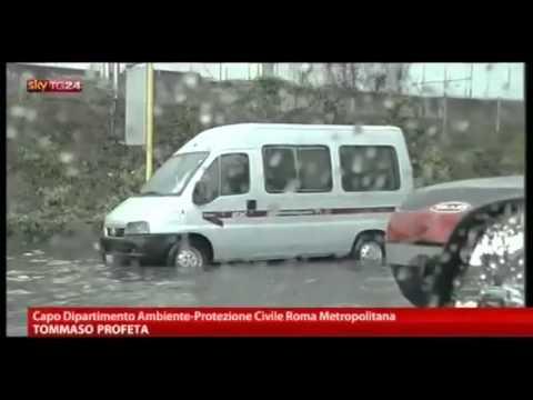 Piogge e maltempo: stato di allerta a Roma