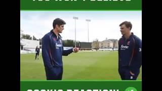 Englands Cricket Captain Alastair Cook's Amazing Reaction