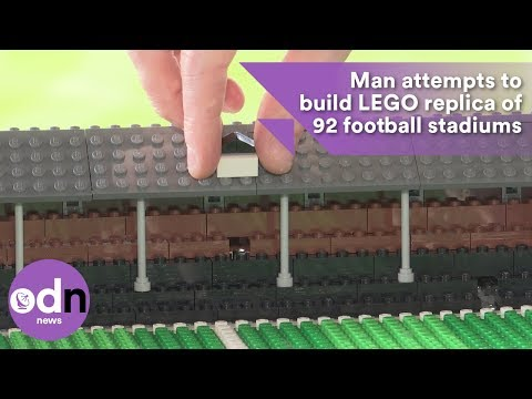 Man attempts to build LEGO replica of 92 football stadiums