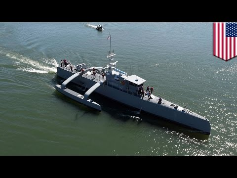 Military technology 2017: DARPA testing robot warship that can hunt enemy submarines - TomoNews