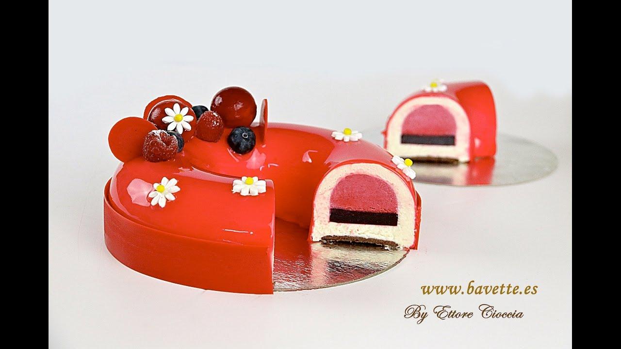 Tarta De Chocolate Blanco Con Frambuesa Arandanos Y