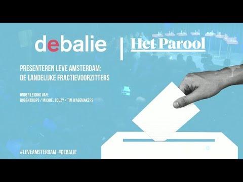Leve Amsterdam: De Landelijke Fractievoorzitters - #gr2018