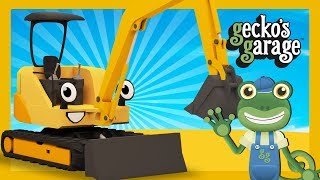 Mini Diggers For Children | Gecko's Garage | Construction Truck Cartoons