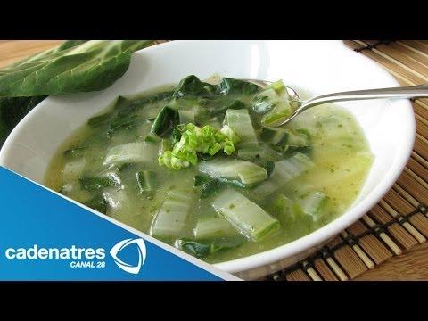 Receta de sopa de acelgas y alubias. Receta de sopa / Sopa de alubias / Sopa de acelgas
