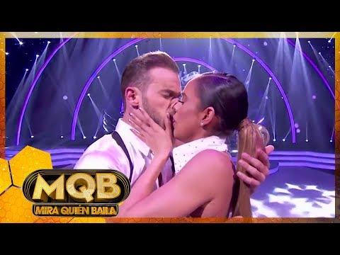 ¡Sara Corrales se besó con su bailarin!   Mira Quien Baila