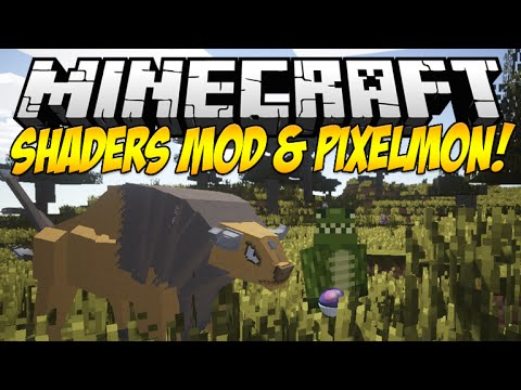 Minecraft Mod Showcase: SHADERS MOD WITH PIXELMON & MORE! [SEUS ULTRA]