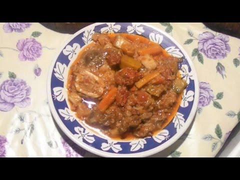 Elaboración  de Guiso de Arroz con Carne y Chorizo Receta