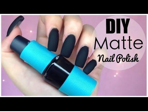 matte nail polish diy