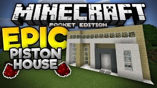 EPIC PISTON HOUSE in MCPE!!! - Over 20 Redstone Creations Inside! - Minecraft PE (Pocket Edition)