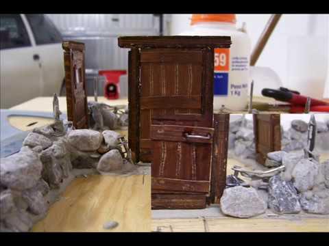 Costruzione di una baita in miniatura parte 1 youtube for Come costruire una cabina di pietra