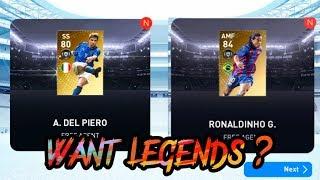 Black Ball Trick - Legends Italian Clubs Box Draw || Get A Legend 😊 || PES 19 Mobile ||