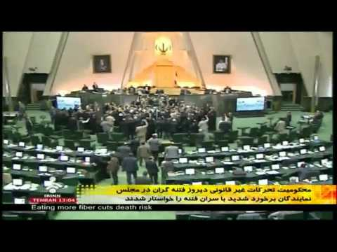 Iran - 15 Feb 2011 Mousavi and Karroubi should be executed- chant be regime MP in Parliment