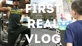 My First Real Vlog | Full Workout | Audi Meet | Nephew