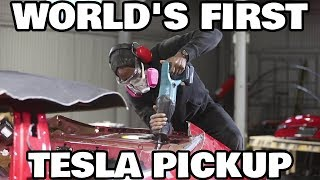 How Truckla Was Built: The Worlds First Tesla Pickup Truck