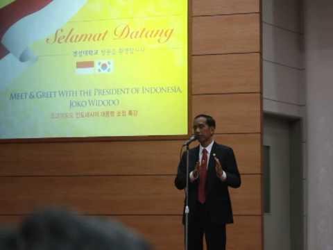 President of Indonesia, Joko Widodo at Kyungsung University, Busan, South Korea, Dec 11th 2014.