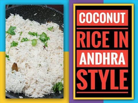 Coconut Rice in Telugu||Kobbari Annam Andhra style||Coconut rice recipe