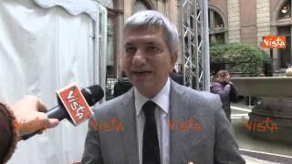 video (Agenzia VISTA) - ROMA, 30 Gennaio 2015 - Dopo l'indicazione unanime come candidato del PD alla Presidenza della Repubblica di Sergio Mattarella, a lungo esponente di spicco della Democrazia.