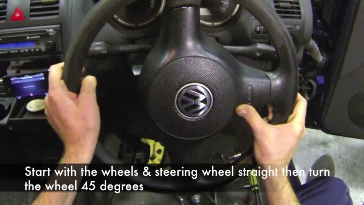VW Polo 2001 steering wheel & clock spring spiral cable ...