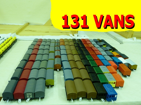 プラレール Tomy Thomas - Longer trains Vol.21: 131 vans running at the same time [HD]